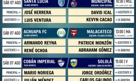Así se jugará la segunda jornada del Torneo Apertura 2021 en Guatemala