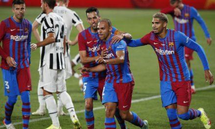 Goleada tras el adiós de Messi