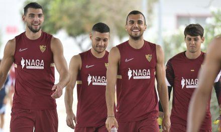 Lucas Ocampos vuelve a entrenar con el Sevilla