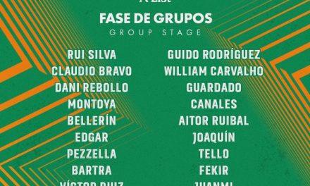 Las ausencias del Real Betis en la lista A de la Europa League